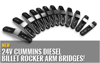 New 24V Cummins Diesel Billet Rocker Arm Bridges!